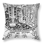 Adam And Eve.  Throw Pillow