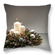 Advent Wreath Throw Pillow