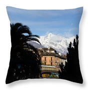 Alpine Village Throw Pillow
