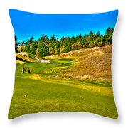 #12 At Chambers Bay Golf Course - Location Of The 2015 U.s. Open Championship Throw Pillow