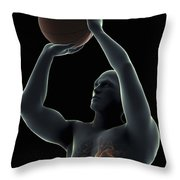 Basketball Shot Throw Pillow
