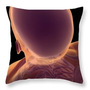 Bones Of The Head And Neck Throw Pillow