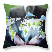 Business Abstract Throw Pillow