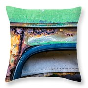 Colored Rust Metal Throw Pillow