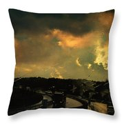 12 Days Of Rain Throw Pillow