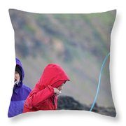 Downton Creek Hike Throw Pillow