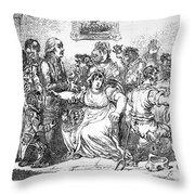 Edward Jenner (1749-1823) Throw Pillow