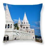 Fisherman's Bastion In Budapest Throw Pillow