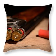 12 Gauge Over And Under Shotgun Throw Pillow