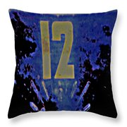 12 In  Blue Throw Pillow
