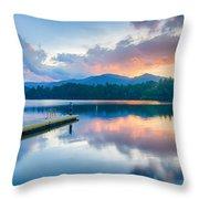 Lake Santeetlah In Great Smoky Mountains North Carolina Throw Pillow