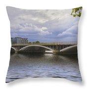 London Thames Bridges  Throw Pillow