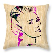 Miley Cyrus Collection Throw Pillow