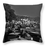 Molyvos Village Throw Pillow