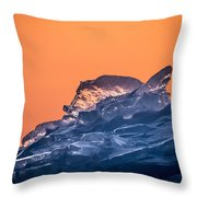 Icy Sunrise Throw Pillow