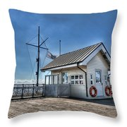 Penarth Pier Throw Pillow