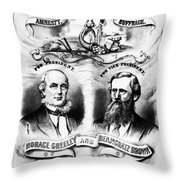 Presidential Campaign, 1872 Throw Pillow