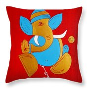 12 Shubham - Auspicious Ganesha Throw Pillow