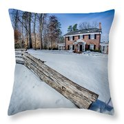 Snow Around Billy Graham Library After Winter Storm Throw Pillow