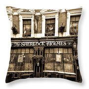 The Sherlock Holmes Pub  Throw Pillow