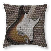 12 Thousand Electric Guitars Throw Pillow