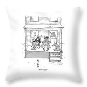 Were We Gay? Throw Pillow
