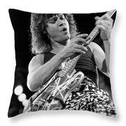 Guitarist Eddie Van Halen Throw Pillow