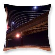 Veterans Glass City Skyway Bridge Throw Pillow
