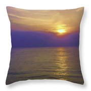 View Of Sunset Through Clouds Throw Pillow