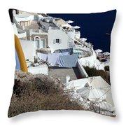 Views From Santorini Greece Throw Pillow