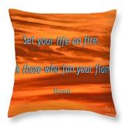 120- Rumi Throw Pillow