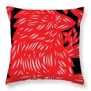 Ailurophile Bird Red White Black Throw Pillow