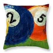 1258 Billiards Throw Pillow