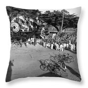 1285 Steam Locomotive At Dennis The Menace Park  Monterey California 1956 Throw Pillow