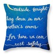 12x16 Dmb So Let Us Sleep Outside Tonight Throw Pillow