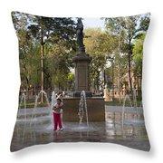 Around Alameda Central Throw Pillow