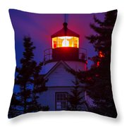 Bass Harbor Lighthouse Throw Pillow