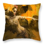 Belly Dancer Throw Pillow by Corporate Art Task Force