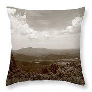 Blue Ridge Mountains - Virginia Sepia 8 Throw Pillow