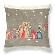 Christmas Nativity Scene Throw Pillow