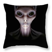Extraterrestrial Life Throw Pillow