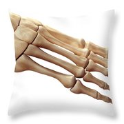 Foot Bones Throw Pillow