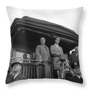 Franklin D Throw Pillow