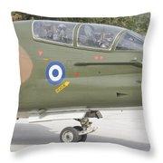 Hellenic Air Force Ta-7 Corsair II Throw Pillow