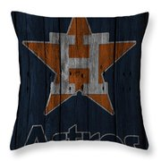 Houston Astros Throw Pillow