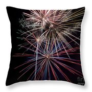 Local Fireworks Throw Pillow by Mark Dodd