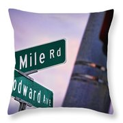 13 Mile Road And Woodward Avenue Throw Pillow