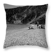 Myrtos Beach Throw Pillow