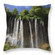 Plitvice Lakes National Park Croatia Throw Pillow