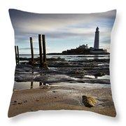 St Marys Lighthouse Throw Pillow